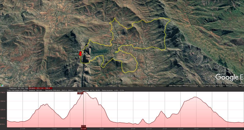 quatrième étape de l'ultra trail UltraMad à Madagascar